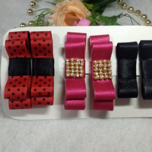 kit mini lacos chanel com 3 pares 300x300 - KIT MINI LAÇOS CHANEL COM 3 PARES
